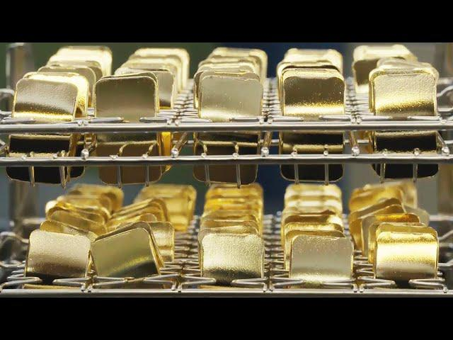 Amazing Process of Gold Mining and Casting of Gold and Silver Bars